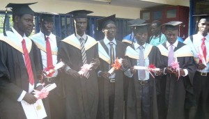 University of Juba students during a graduation ceremony.