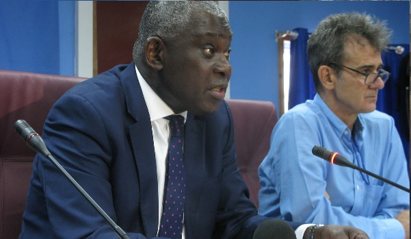 UN Humanitarian Coordinator Eugene during a press briefing (Photo Credit: UNMISS)