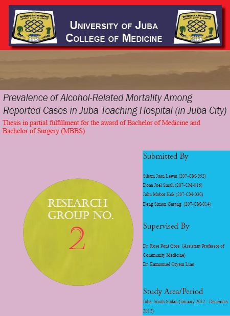 A Record of Alcohol-related Deaths at Juba Teaching Hospital