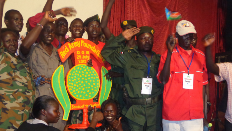 Members of the Red Army pose for a group photo. File Photo (by Daniel Deng. 2013)